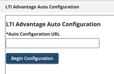 LTI Advantage auto config screenshot